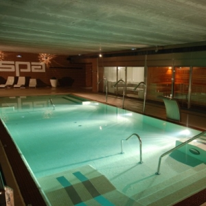 Grand spa de nage public concept for Piscine concept lyon