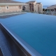 Grande piscine en inox à débordement
