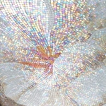 Fleur en pastel - Mosaïque taillée