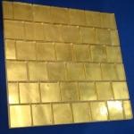 Mosaïque Or jaune lisse 50x50