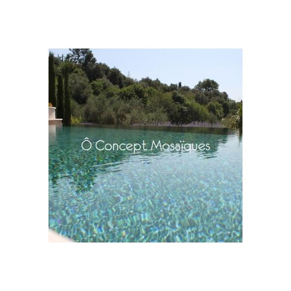 Mosaiques piscine lisses vert olive for Piscine miroir lyon