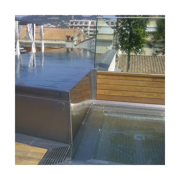pin piscine piscines inox beton carrelage on pinterest. Black Bedroom Furniture Sets. Home Design Ideas