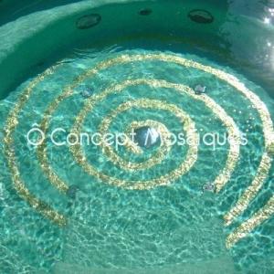 Spirale Mosaïque Or